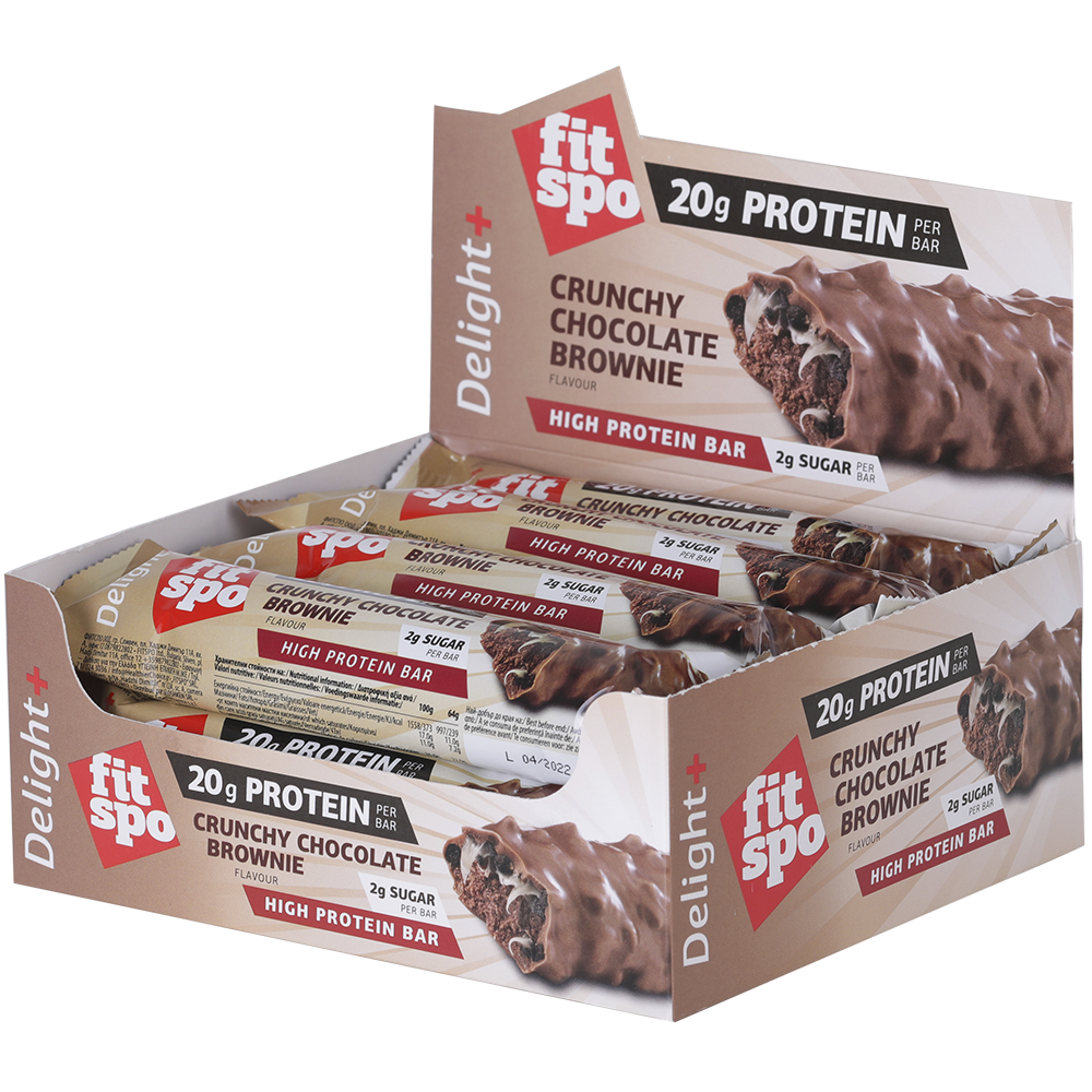 12 x FitSpo Crunchy protein bar - Chocolate Brownie