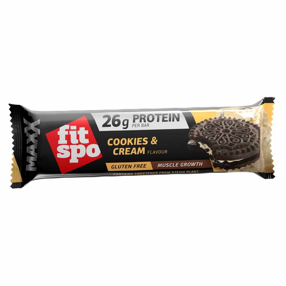 12 x FitSpo Max protein bar - Cookies and Cream
