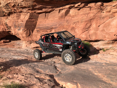 RZR Dynamix and XRC on the Rocks of Moab