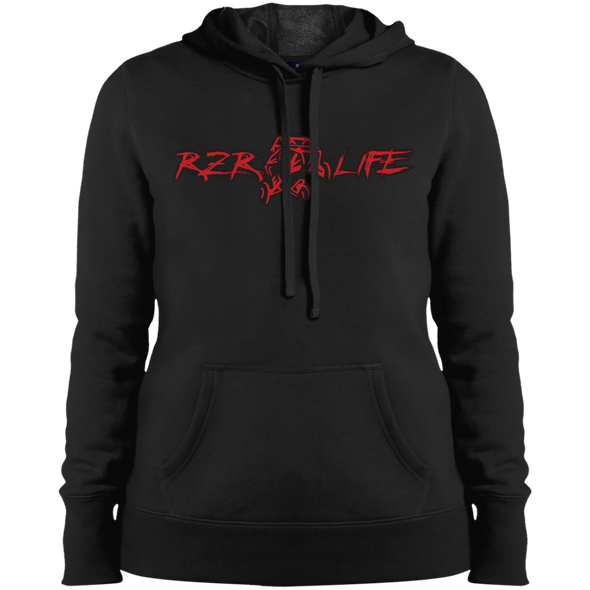 Ladies' Pullover Hooded Sweatshirt (Red)
