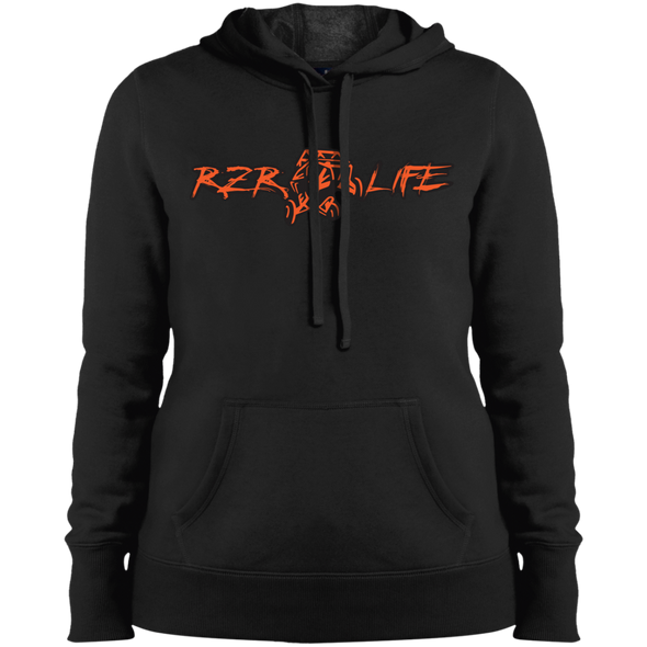 Ladies' Pullover Hooded Sweatshirt (Orange)