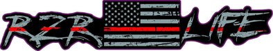 RZR LIFE Limited Edition Thin Red Line Decal