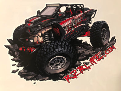 Big Red RZR Life Decal