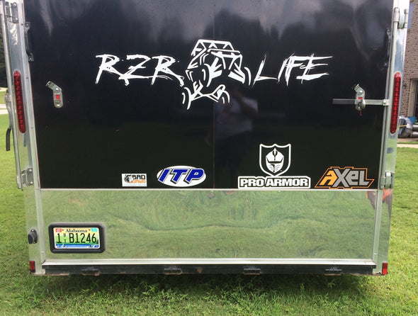 RZR LIFE Trailer Decal