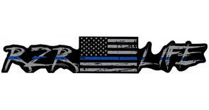 RZR LIFE Limited Edition Thin Blue Line Decal