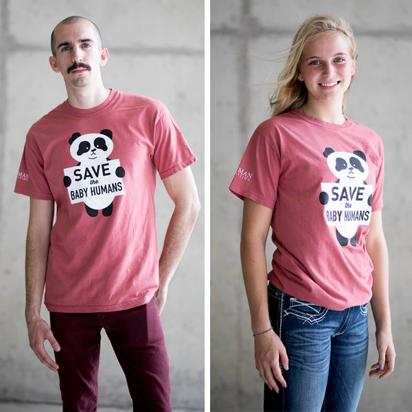 Save the Baby Humans Panda T-Shirt