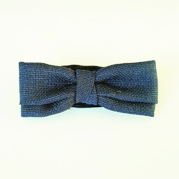 Navy Textured Bow Tie