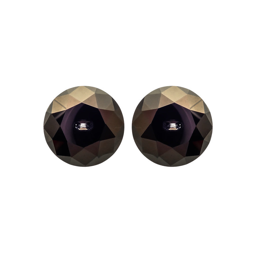 Swarovski Button Earrings - Jet