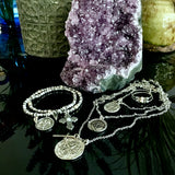 Bbeni silver Coin necklaces
