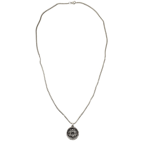 Pave Crystal Large Starburst Necklace in Platinum