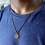 Men's adoption coin necklace