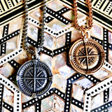 Bbeni Compass Coin men's necklace
