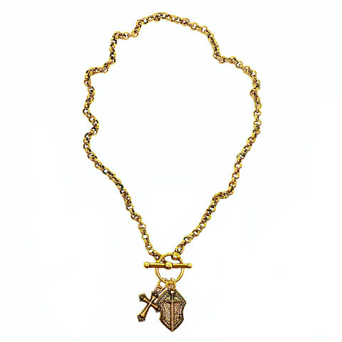 Shield of Faith Cross Necklace