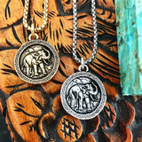 Bbeni elephant coin necklaces