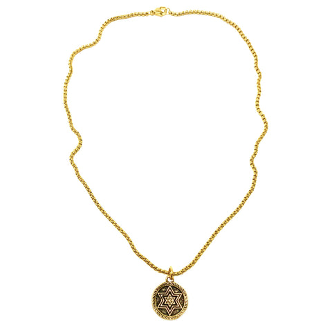 Jewish Star of David Coin Necklace