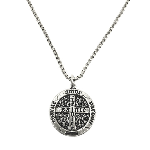 NEW! Large Trinité Cross Coin Necklace For Men