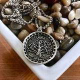 Bbeni tree of life coin necklace for men