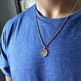 Bbeni men's ancient temple necklace