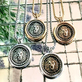 Bbeni lion coin necklace