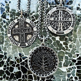 Bbeni men's cross coin necklace