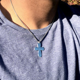 Bbeni silver Christian cross necklace