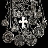 Bbeni Compass Coin necklace for men