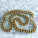 Bbeni 14k gold Miami Cuban cable link necklace