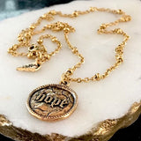 bbeni gold hope coin necklace