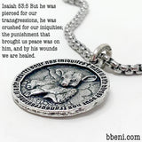 New! Isaiah 53 Lamb Coin Necklace