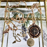 bbeni compass coin necklace