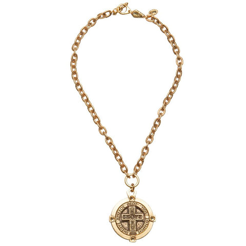 NEW! Compass Coin Necklace For Men
