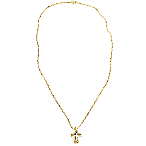 Messiah Two-Tone Cross Unisex Necklace