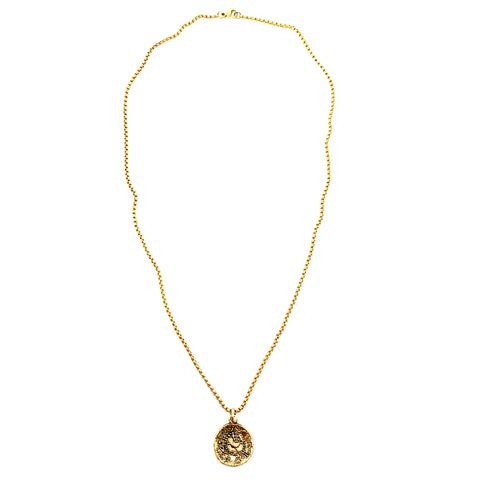 Gold and Crystal Tree of Life Necklace