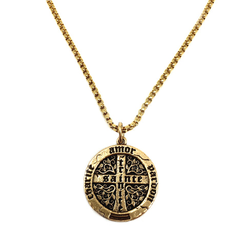 NEW! Large Trinité Cross Coin Necklace