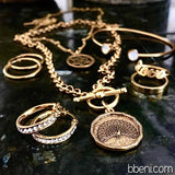 bbeni gold peacock coin necklace