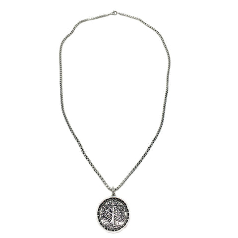 Large Tree of Life Coin Necklace