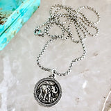 bbeni elephant coin necklace