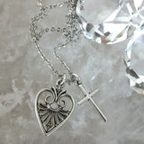 bbeni heart and cross necklace