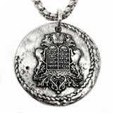 bbeni holy holy holy religious coin necklace