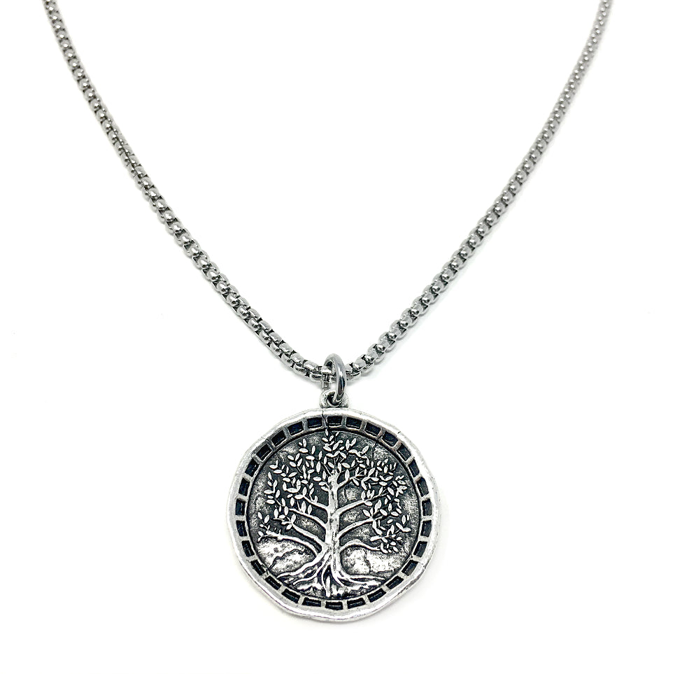 6d5b69a8a80b3 NEW! Large Tree of Life Coin Necklace