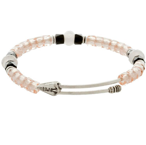 Believe Silver Beaded Bangle