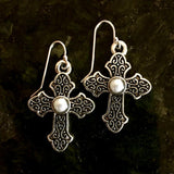 El Shaddai Cross Earrings