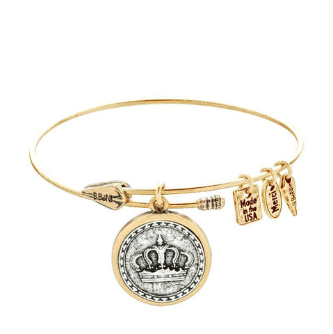God is King Two Tone Bangle