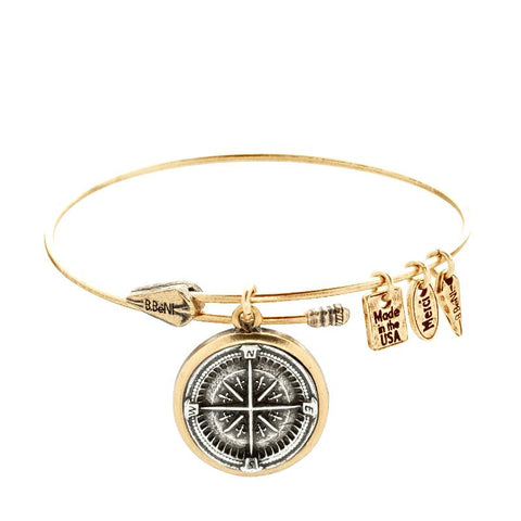 Guide me Compass Two Tone Bangle