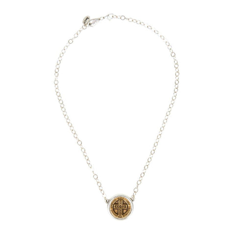 IXOYE Gold Coin in Holder Necklace