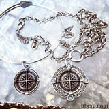 Moriel Two Tone Compass Necklace
