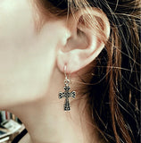 Old World Cross Earrings