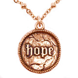 New! Hope Coin on Beaded Chain Necklace