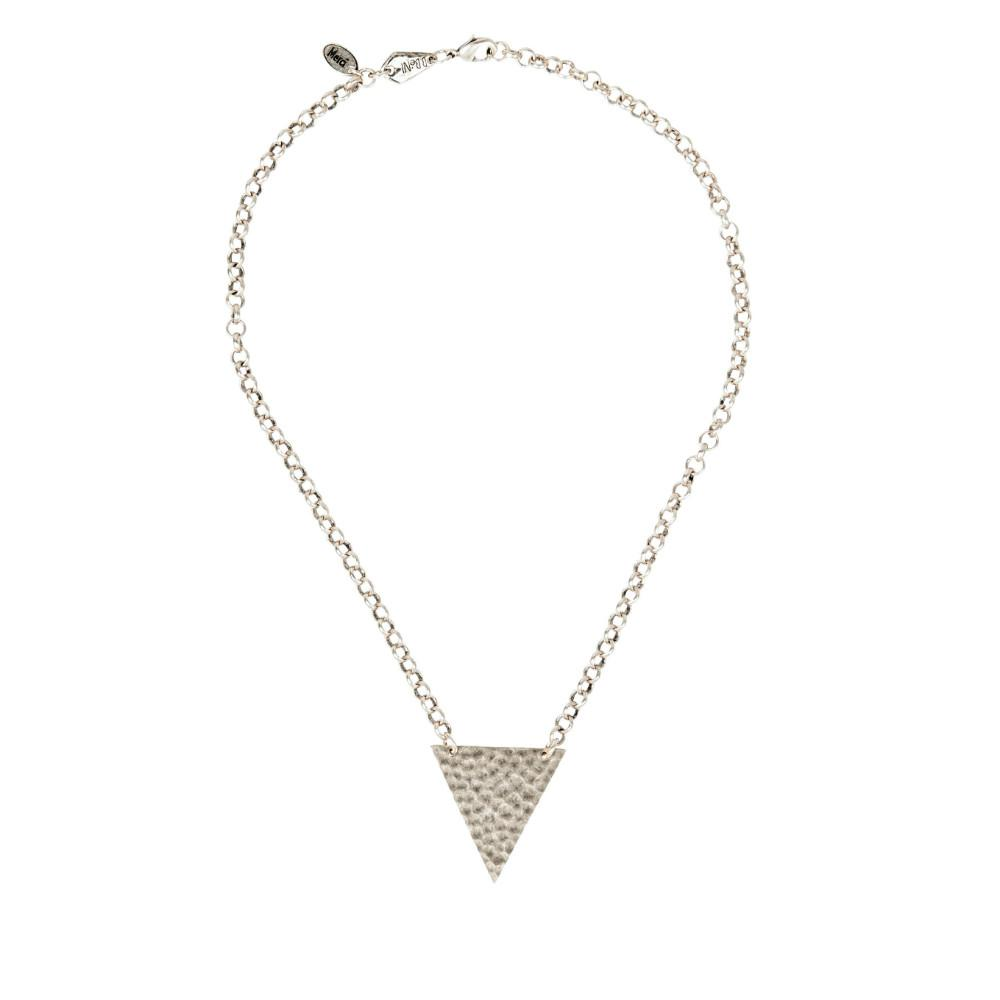 Shield of faith christian hammered chunky triangle necklace shop shield of faith necklace aloadofball Images