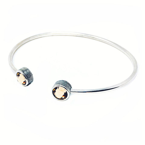 CLEARANCE - Sterling Silver Handcrafted, Hammered Bangle Bracelet